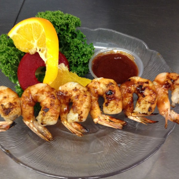 Skewered BBQ Shrimp (6)